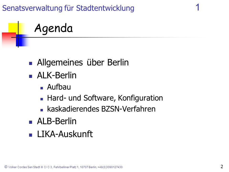 Agenda Allgemeines über Berlin ALK-Berlin ALB-Berlin LIKA-Auskunft