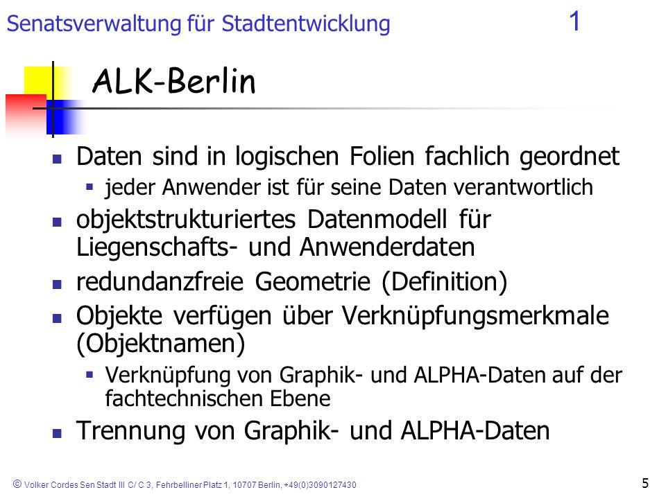 ALK-Berlin Daten sind in logischen Folien fachlich geordnet