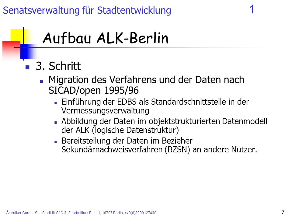 Aufbau ALK-Berlin 3. Schritt