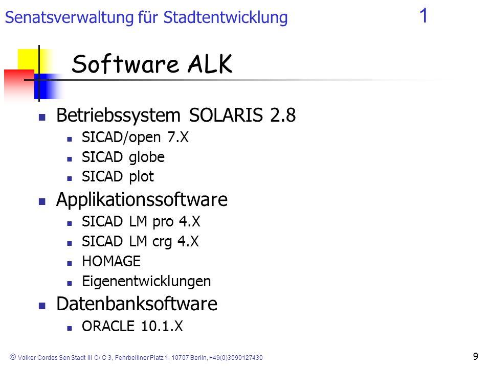 Software ALK Betriebssystem SOLARIS 2.8 Applikationssoftware
