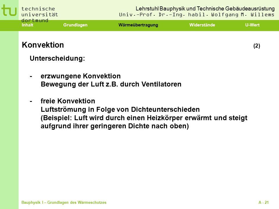 Konvektion (2) Unterscheidung: