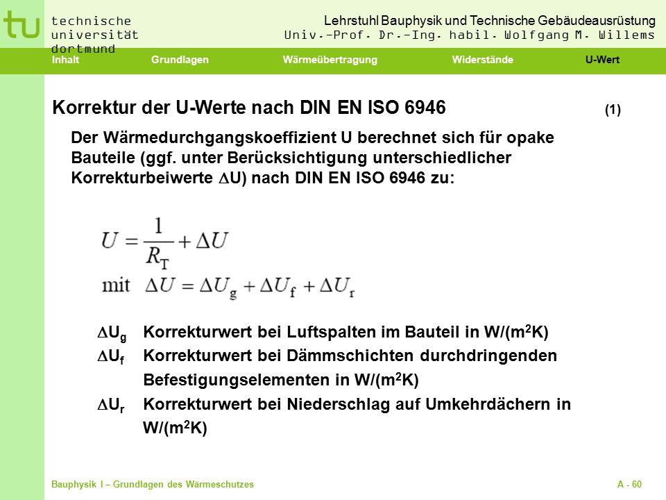 Korrektur der U-Werte nach DIN EN ISO 6946 (1)