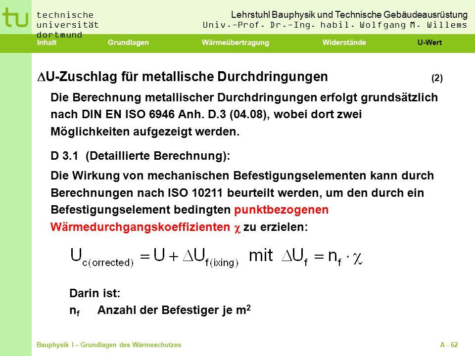 U-Zuschlag für metallische Durchdringungen (2)
