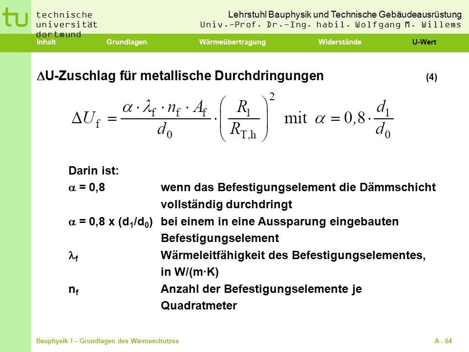 U-Zuschlag für metallische Durchdringungen (4)