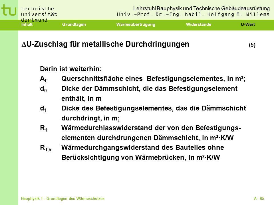 U-Zuschlag für metallische Durchdringungen (5)