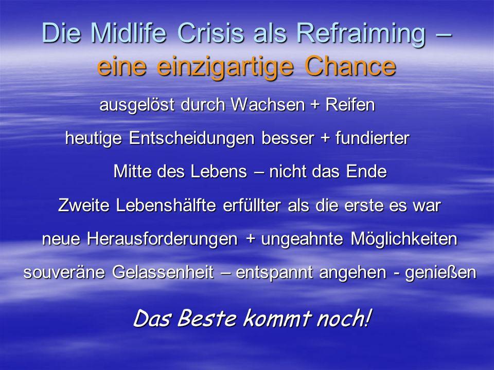 Die Midlife Crisis als Refraiming – eine einzigartige Chance