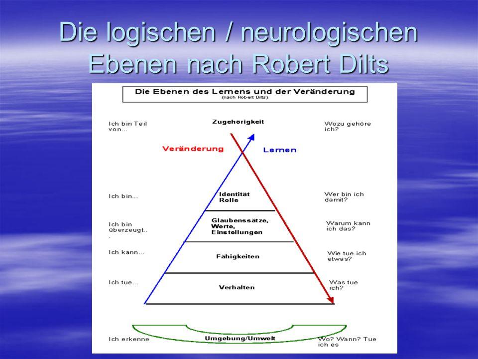 Die logischen / neurologischen Ebenen nach Robert Dilts