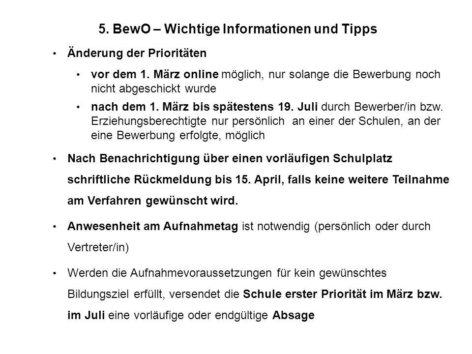 5. BewO – Wichtige Informationen und Tipps