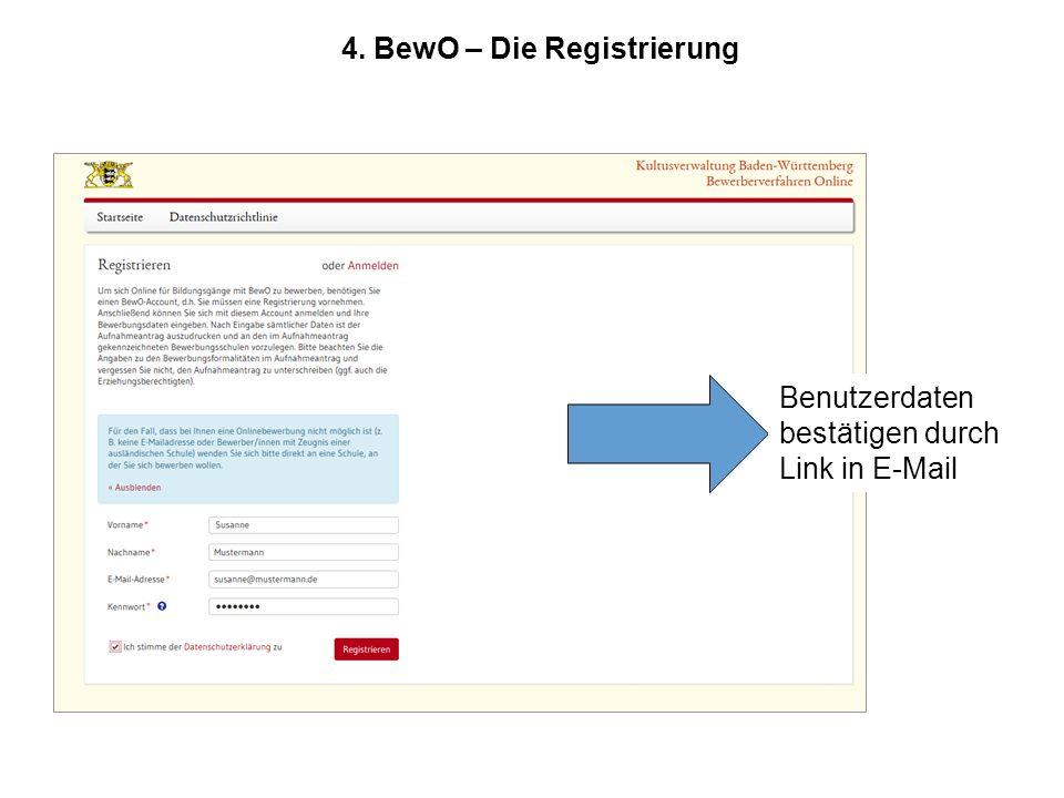 4. BewO – Die Registrierung