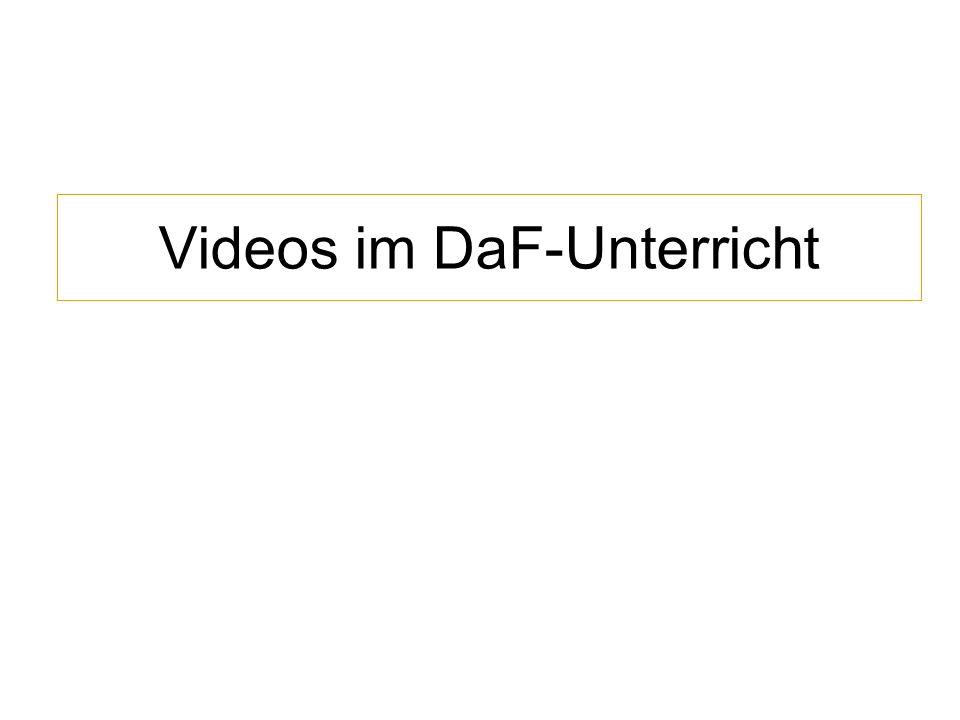 Videos im DaF-Unterricht