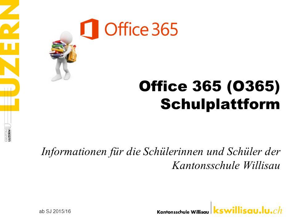 Office 365 (O365) Schulplattform