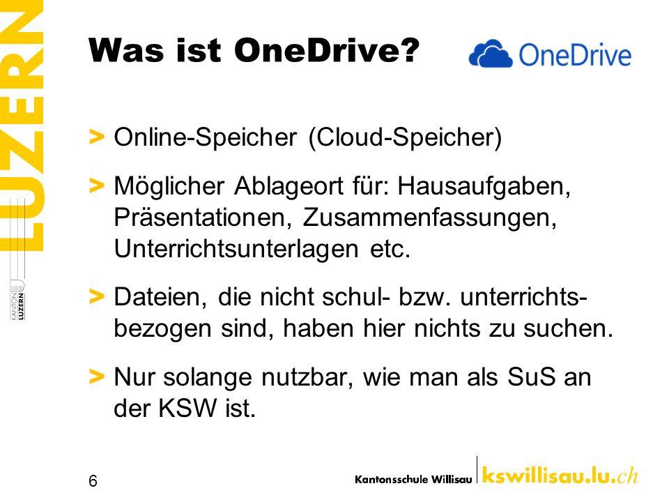 Was ist OneDrive Online-Speicher (Cloud-Speicher)