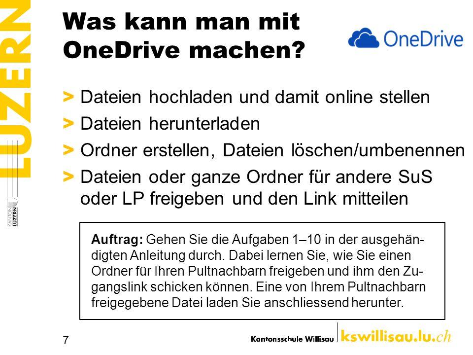 Was kann man mit OneDrive machen