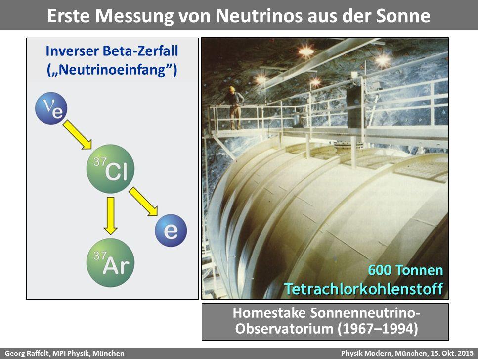 Erste Messung von Neutrinos aus der Sonne