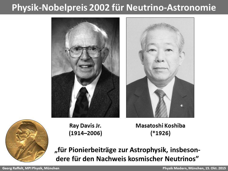 Physik-Nobelpreis 2002 für Neutrino-Astronomie