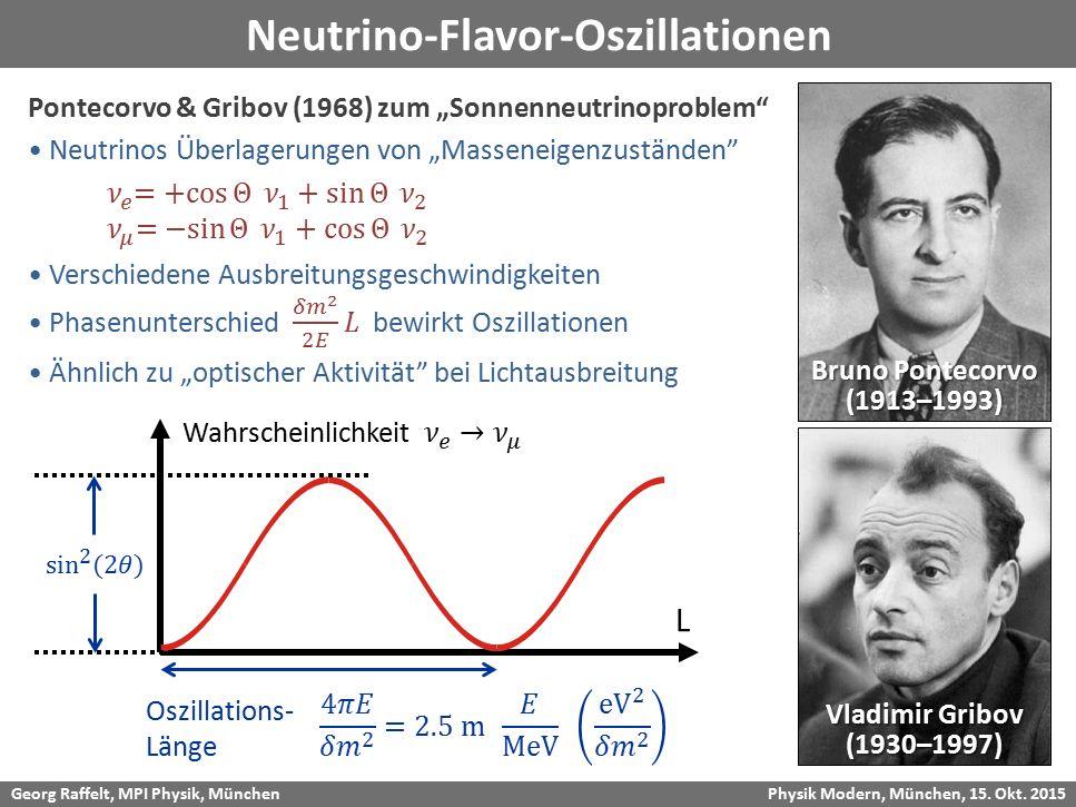 Neutrino-Flavor-Oszillationen