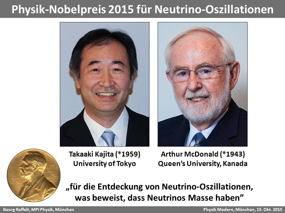 Physik-Nobelpreis 2015 für Neutrino-Oszillationen