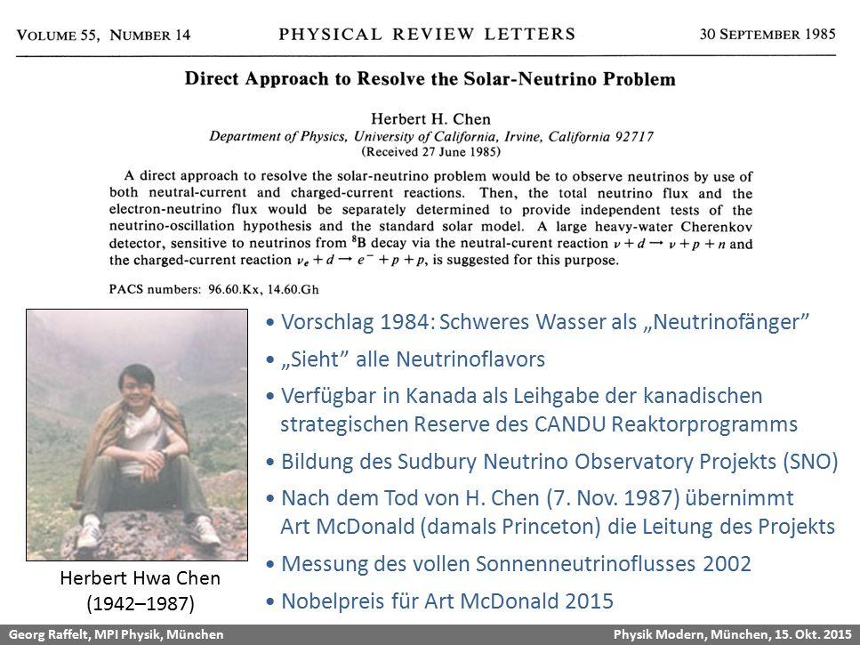 """SNO Proposal • Vorschlag 1984: Schweres Wasser als """"Neutrinofänger"""
