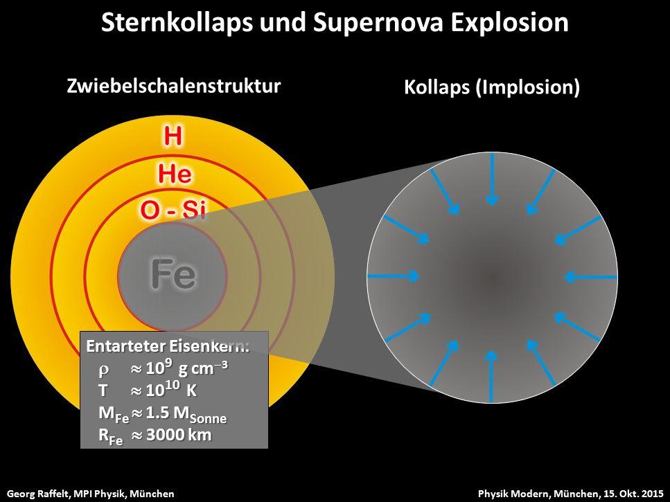 Sternkollaps und Supernova Explosion