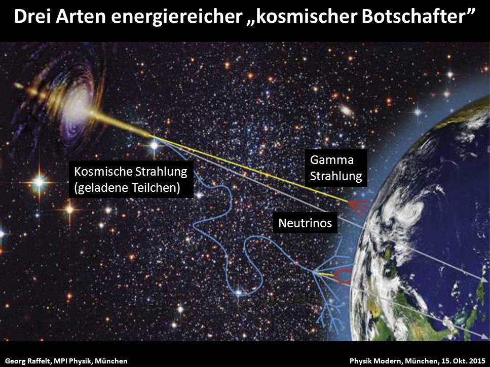 """Drei Arten energiereicher """"kosmischer Botschafter"""