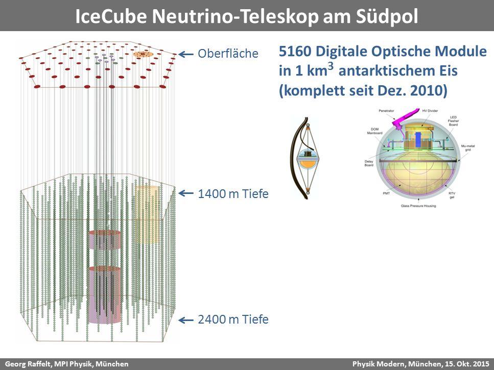 IceCube Neutrino-Teleskop am Südpol