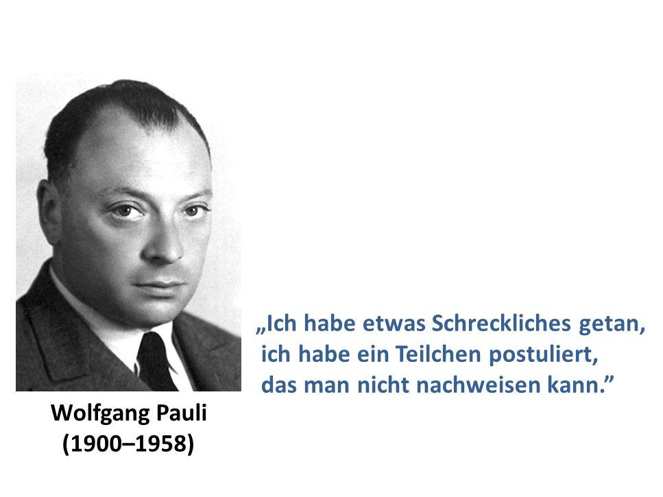 Wolfgang Pauli zu Neutrinos