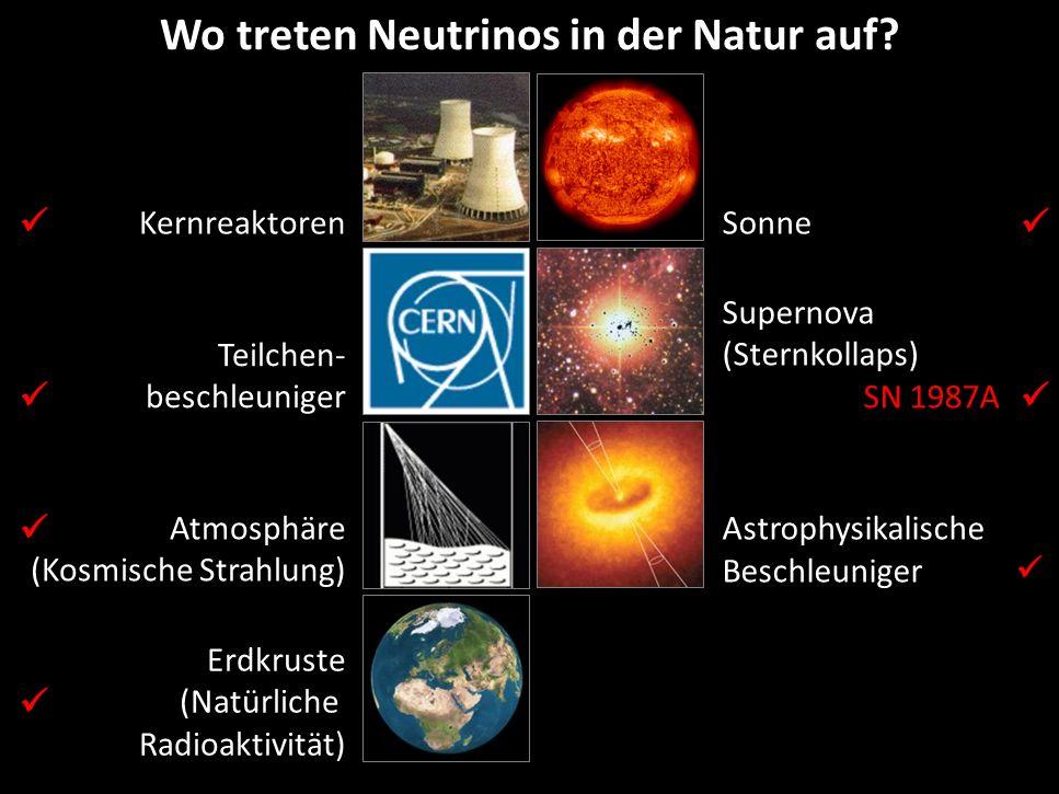 Wo treten Neutrinos in der Natur auf
