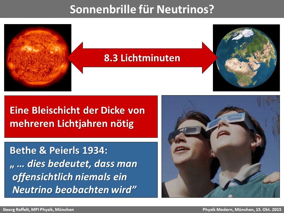 Sonnenbrille für Neutrinos