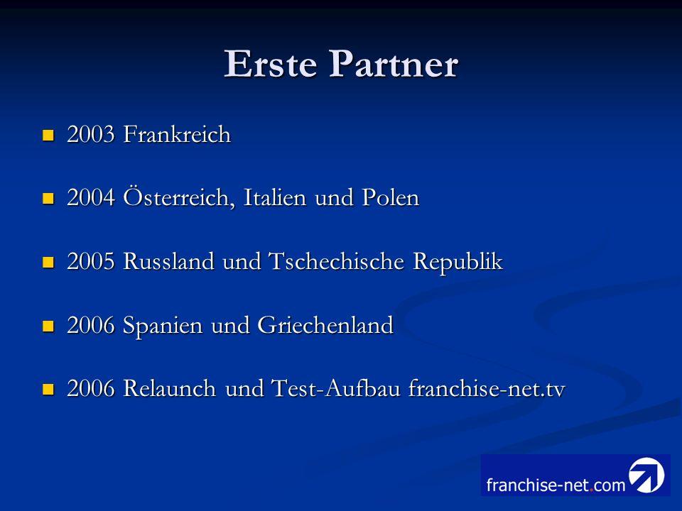 Erste Partner 2003 Frankreich 2004 Österreich, Italien und Polen