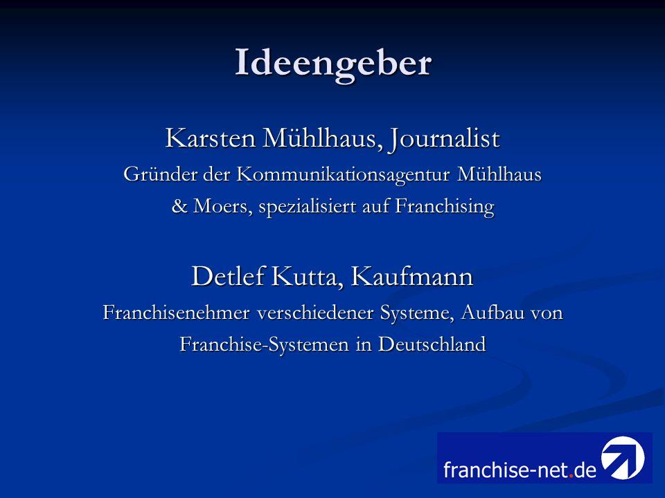 Ideengeber Karsten Mühlhaus, Journalist Detlef Kutta, Kaufmann