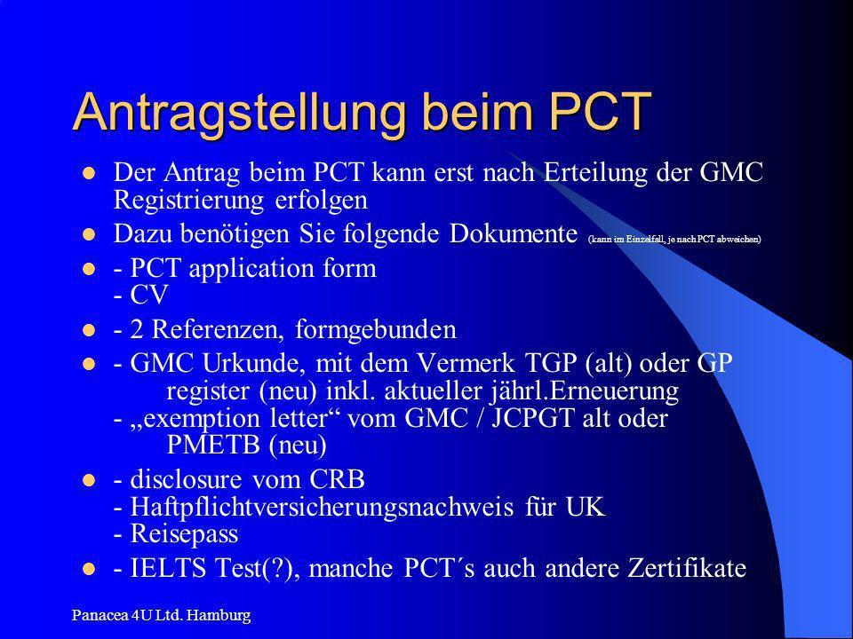Antragstellung beim PCT