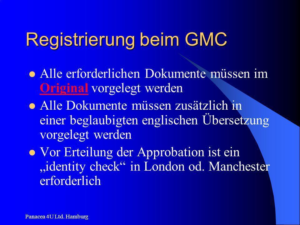 Registrierung beim GMC
