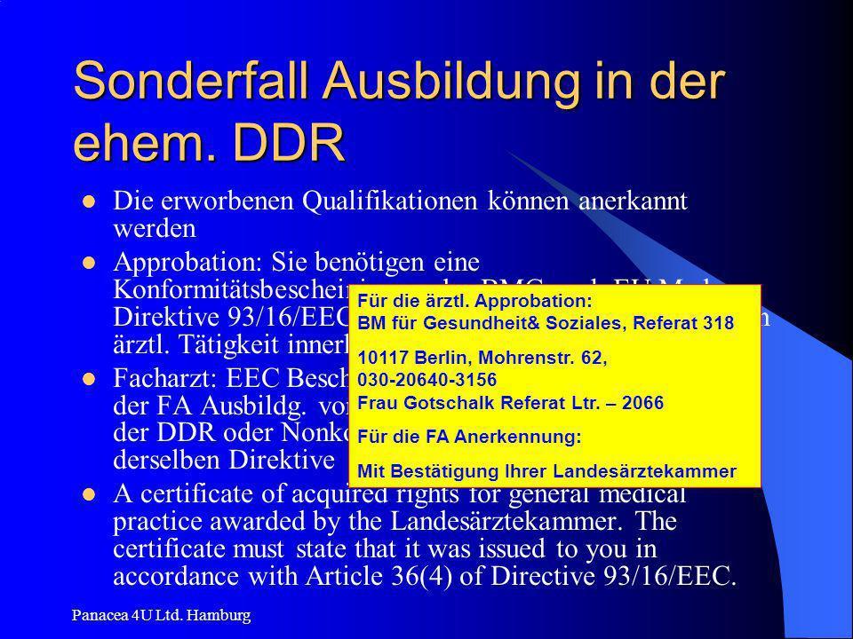 Sonderfall Ausbildung in der ehem. DDR