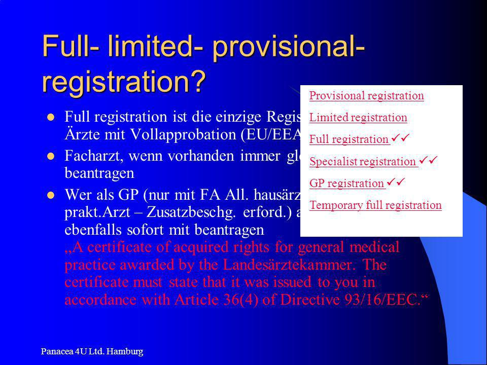 Full- limited- provisional- registration