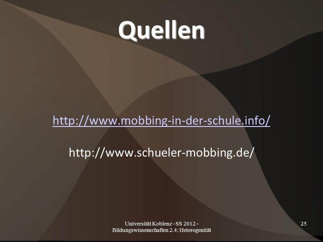 http://www.mobbing-in-der-schule.info/ http://www.schueler-mobbing.de/