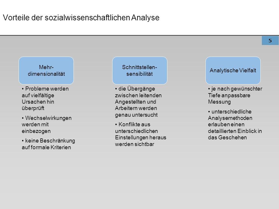 Vorteile der sozialwissenschaftlichen Analyse