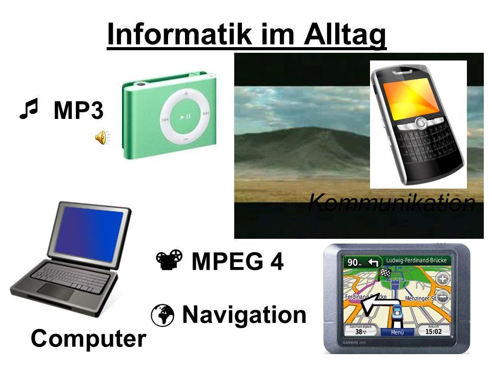 Informatik im Alltag  MP3  MPEG 4 Kommunikation  Navigation
