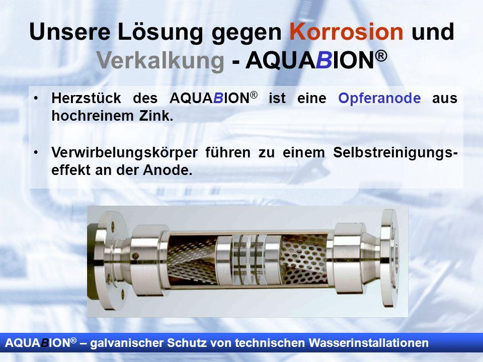 Unsere Lösung gegen Korrosion und Verkalkung - AQUABION®