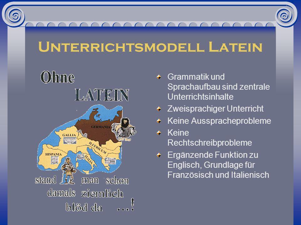 Unterrichtsmodell Latein