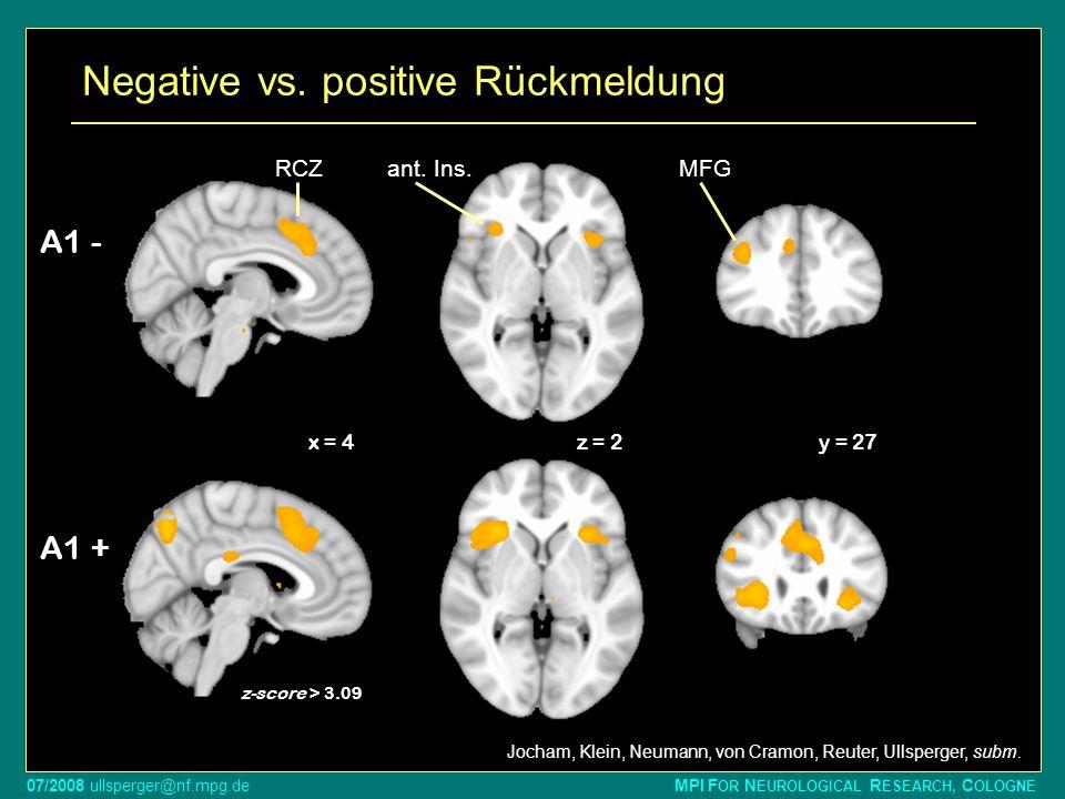 Negative vs. positive Rückmeldung