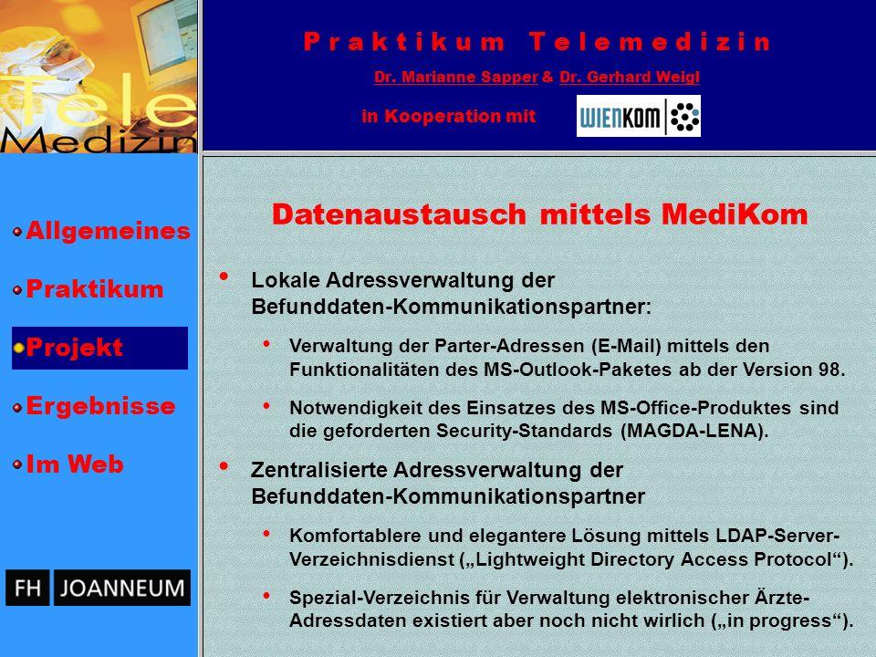 Datenaustausch mittels MediKom