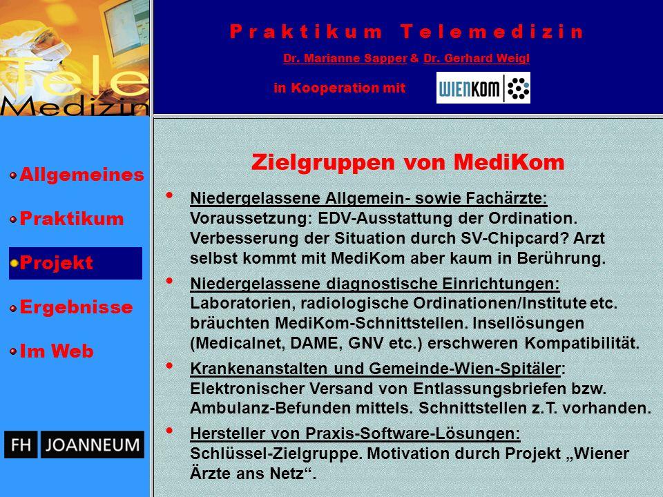 Zielgruppen von MediKom
