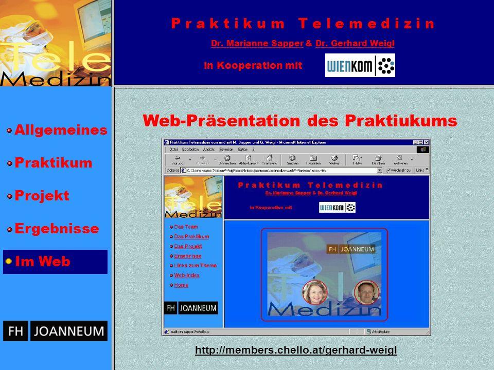 Web-Präsentation des Praktiukums