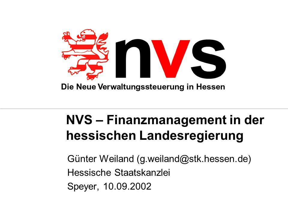 NVS – Finanzmanagement in der hessischen Landesregierung