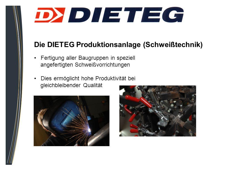 Die DIETEG Produktionsanlage (Schweißtechnik)