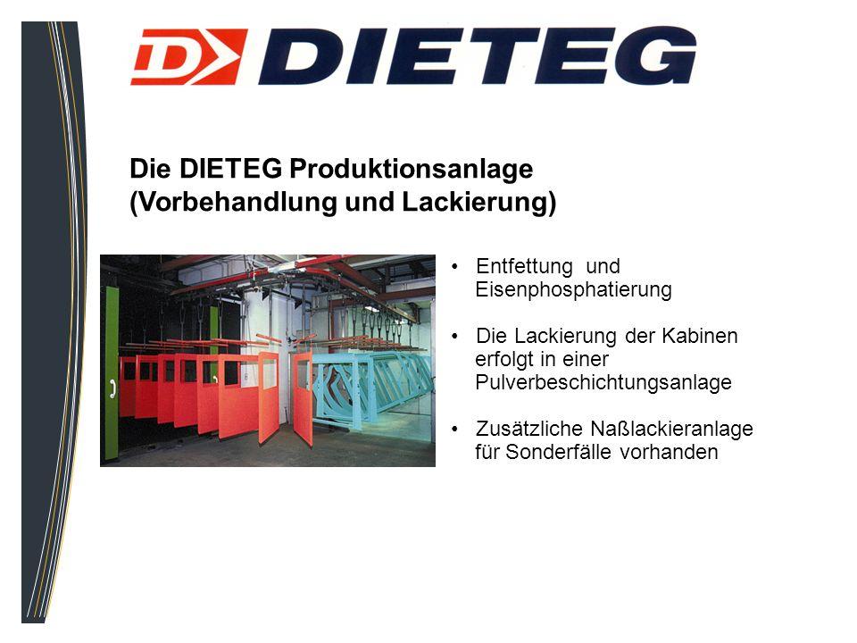 Die DIETEG Produktionsanlage (Vorbehandlung und Lackierung)