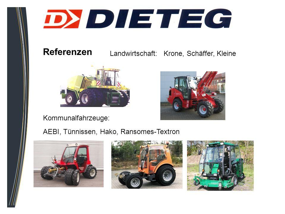 Referenzen Landwirtschaft: Krone, Schäffer, Kleine Kommunalfahrzeuge:
