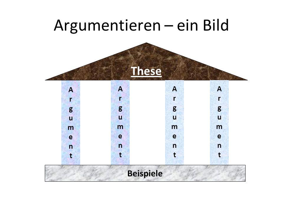 Argumentieren – ein Bild