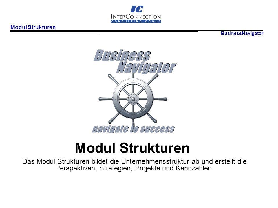 Modul Strukturen BusinessNavigator. Modul Strukturen.