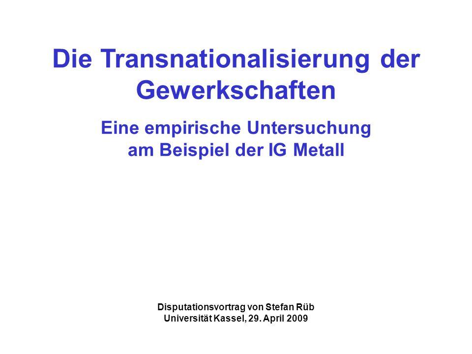 Die Transnationalisierung der Gewerkschaften